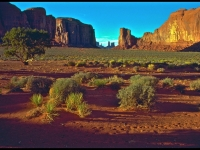 In Monument Valley Near Sunset