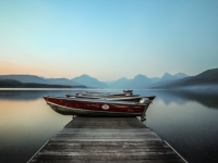 Smoky Sunset At Lake Mcdonald
