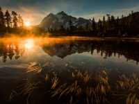 Sunrise, Picture Lake, Washington