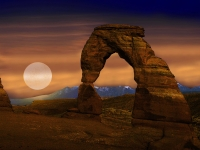 Moonrise At Delicate Arch