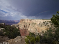 Fleeting Rainbow Over The Grand Canyon