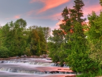 Sunset At Sauble Falls