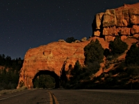 Red Canyon Tunnel Under A Full Moon