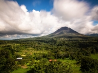 Clouds Breaking Above Volcan Arenal