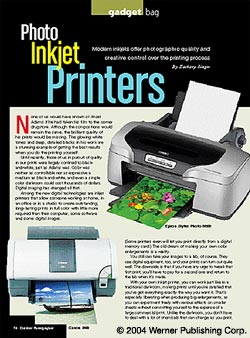 Gadget Bag: Photo Inkjet Printers