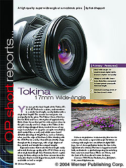 Tokina 17mm Wide-Angle