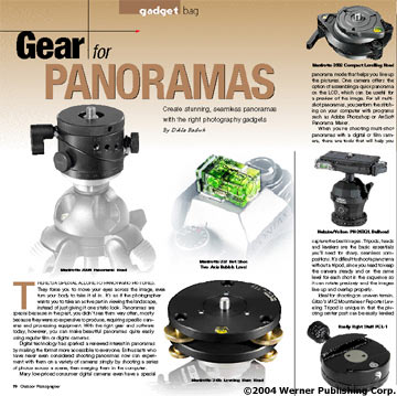 Gadget Bag: Gear For Panoramas