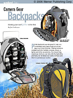 Gadget Bag: Camera Gear Backpacks