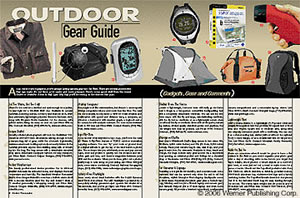 Outdoor Gear Guide (Gadgets, Gear and Garments)