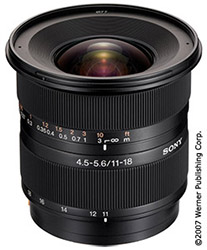 wide-angle zoom lenses - sony