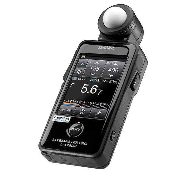 handheld exposure meter - winter photography gear