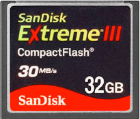 New 32 GB CompactFlash from SanDisk