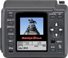 Mamiya ZDb Digital Back Debuts at Photokina 2008