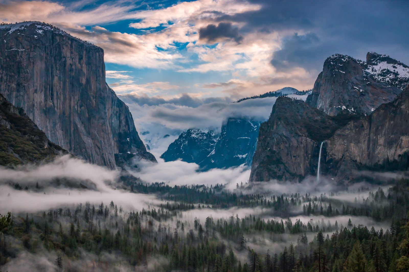 Foggy Morning in the Yosemite Valley