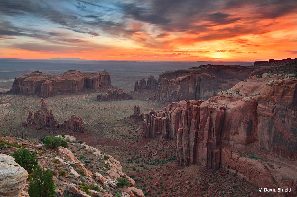 """""""Remote Monument Valley Sunrise"""" By David Shield"""