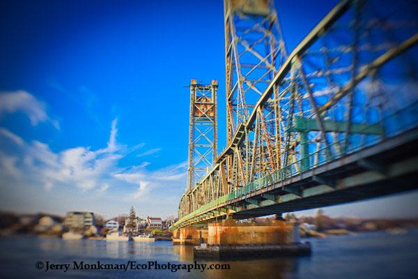 Memorial Bridge in Portsmouth, NH shot with Lensbaby Composer.