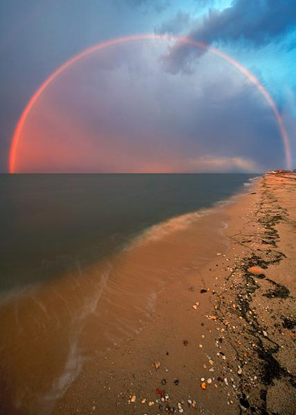 Rainbow over Big Stone Beach, Delaware Bay