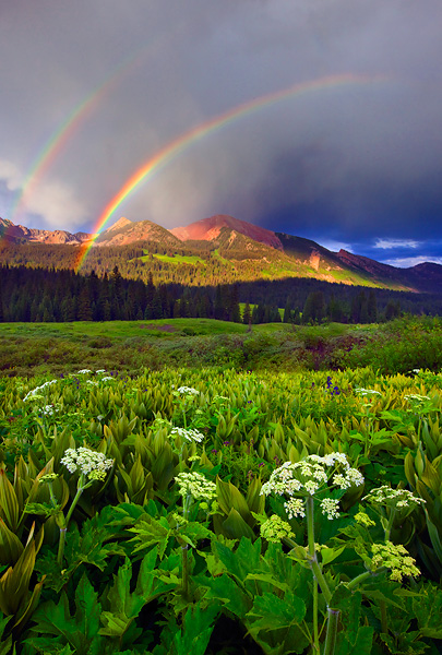 Double Rainbow, Gunnison National Forest, Colorado