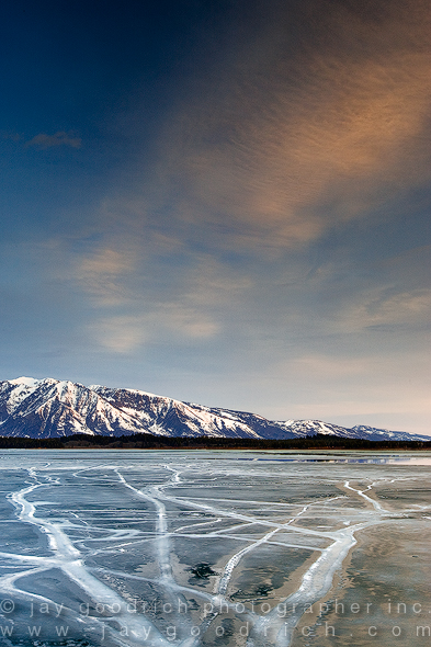 Ice Over Jackson Lake. Grand Teton N.P. by Jay Goodrich