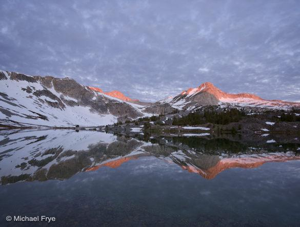 North Peak and Greenstone Lake at sunrise