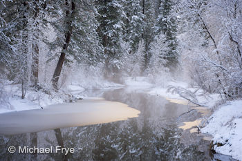 Winter morning along the Merced River, Yosemite