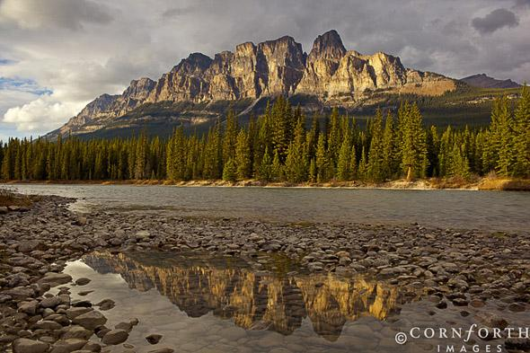 Castle Mountain Reflection 1, Banff National Park, Alberta