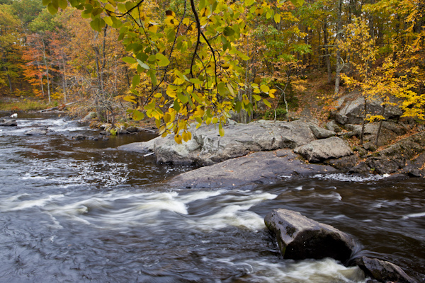New Hampshire stream photographed without a polarizer.