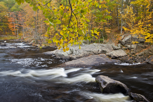 New Hampshire stream photographed with a polarizer.