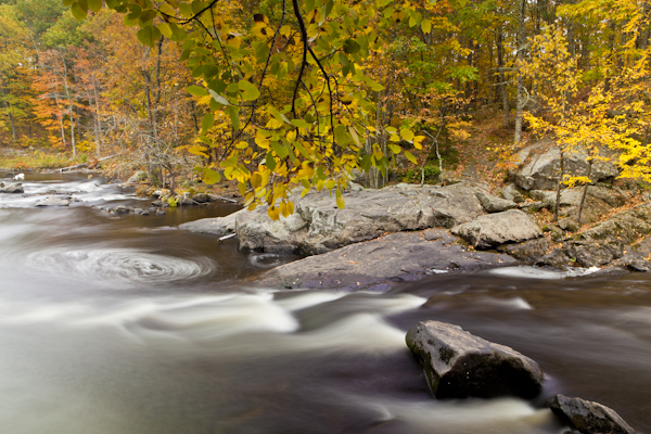 New Hampshire stream shot with a Singh-Ray Vari Neutral density filter to lengthen exposure time.