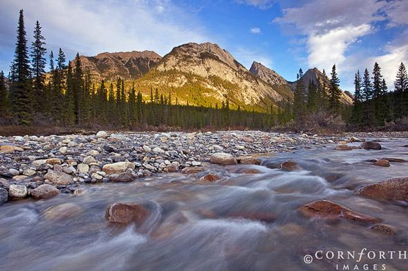 Siffluer River Sunset 2, Kootenay Plains, Alberta