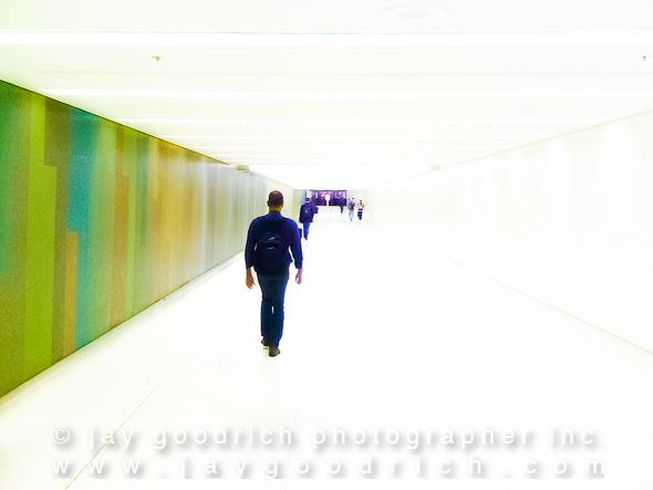 Walking Into the Light in LAX by Jay Goodrich