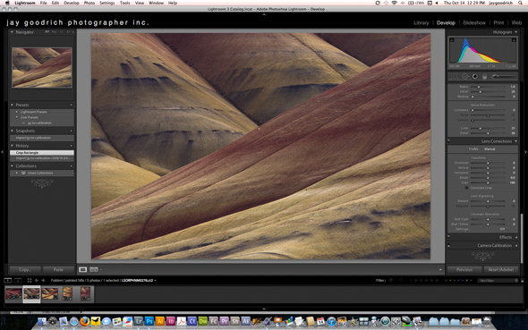 The Painted Hills Lightroom Screen Shot by Jay Goodrich