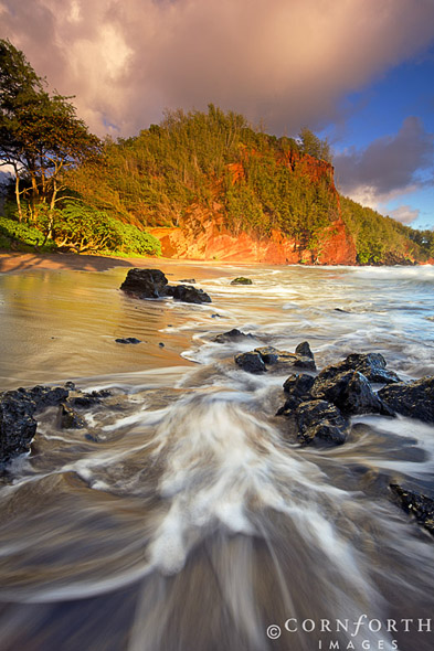 Koki Beach Sunrise 1, Hana Coast, Maui, Hawaii