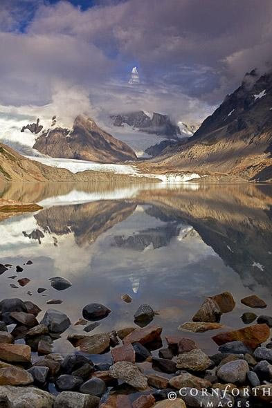 Laguna Torre Cloudy Reflection 1, Los Glaciares National Park, Argentina