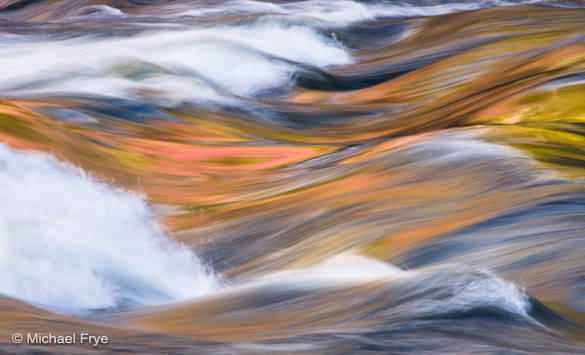 Waves and reflections in the Merced River