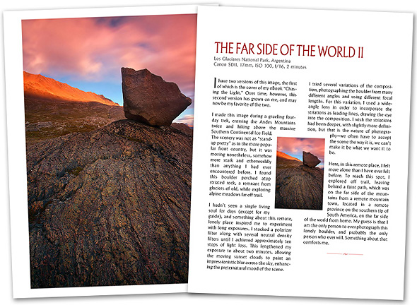 Patagonia Behind the Lens sample pages