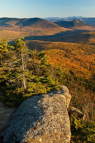 View of the Nash Stream valley from Sugarloaf Mountain in New Hampshire's Nash Stream State Forest.