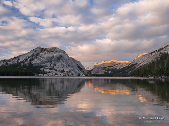 (A) Clouds and reflections, Tenaya Lake, Yosemite