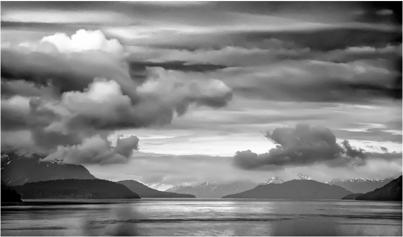 David-Fischer-Clouds-Over-Glacier-Bay