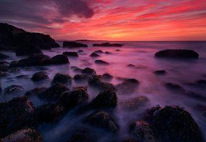 Fiery-red-sunrise-Acadia-National-Park-Maine