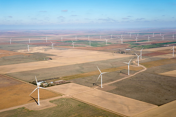 wind turbines, dodge city