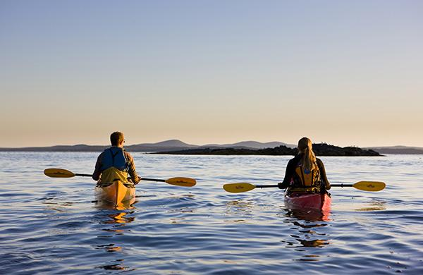Sea kayaking in Acadia National Park.
