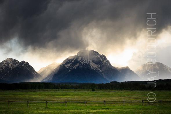 Storm Valley Tetons Moran Wyoming by Jay Goodrich
