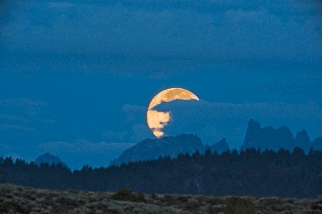 Moonset Over Mammoth Minarets by Bruce Wendler