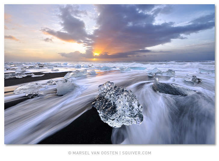 Marsel van Oosten, Marsel, Squiver 'Ice Capades' - Shot on the iconic black lava beach in Iceland.