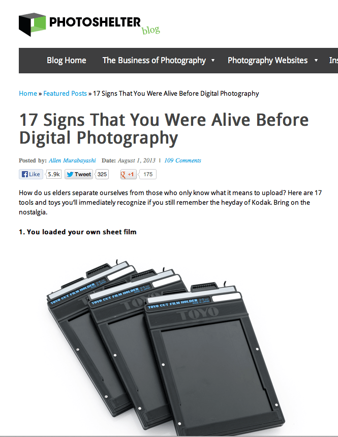 17 Signs That You Were Alive Before Digital Photography by Alan Murabayashi