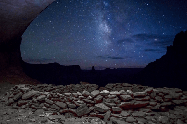 Milky Way In False Kiva by Steven Hirsch