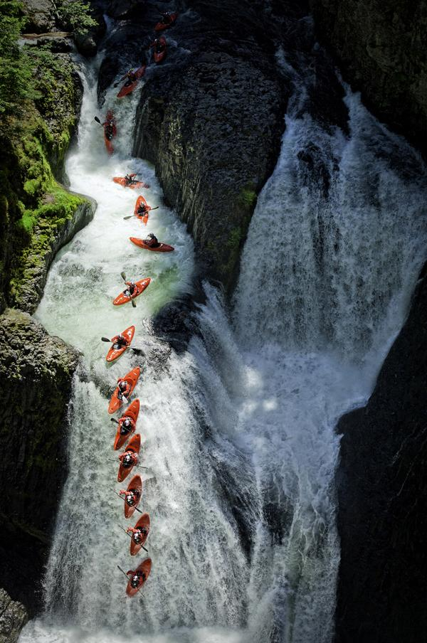 Red Bull Tao Berman Athlete Shoot in Washington & Oregon 2011. Salmon River Gorge, Frustration Falls, Oregon USA.