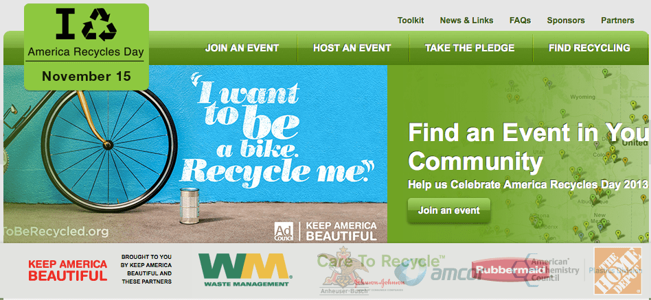 America Recycles Day is November 15th