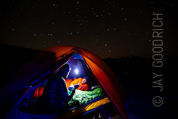 Camping Night Stars by Jay Goodrich